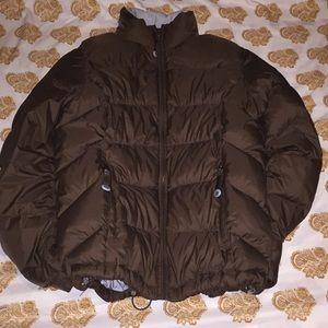 Goose down puffer coat